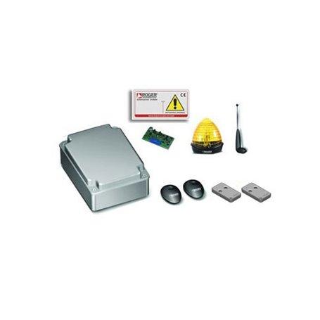 KIT R70/11 ROGER Kit Elettronicacon Centrale Comando R70/2Ac Per 2 Motori, Senza Lampex Con Antenna Montaggio Parete