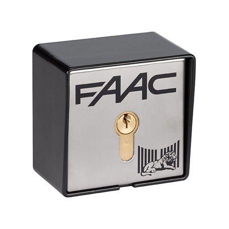 401019028 FAAC PULSANTE A CHIAVE T10E N°28