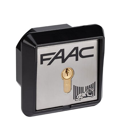 401010002 FAAC PULSANTE A CHIAVE T10 N°02