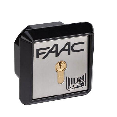 401010017 FAAC PULSANTE A CHIAVE T10 N°17