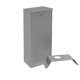 CPQ-INOX INTEGRA armadio metallico per entralina in lamiera INOX con chiave