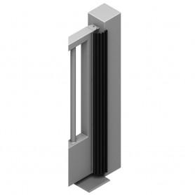 BPM0-SX0 PIZERO Kit Proteggi Mani per Cancelli Battenti, Portoni sezionali lunghezza Mt. 10 Gomma con profili