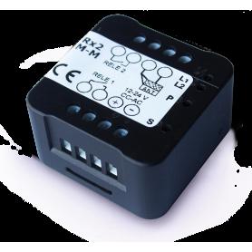 RX2 M INTEGRA Ricevitore Bicanale Auto Apprendimento Codice Fisso e Rolling-Code