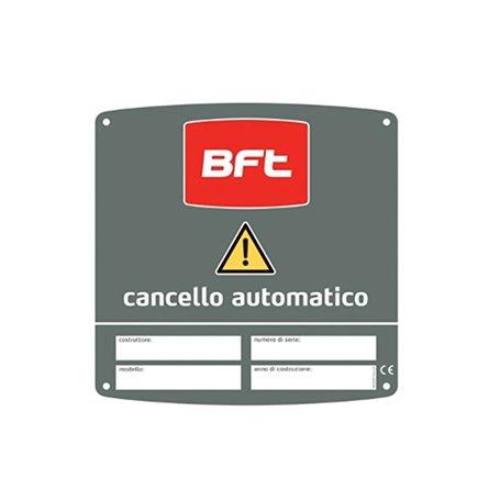 D831081 BFT Cms Italia Bft 180X180 Cartello Avvert