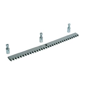 009CGZS CAME Cremagliera Modulo 4 In zincato 30 x 8 mm con fori e distanziali per fissaggio