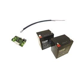 BI/BAT/KIT ROGER Kit Caricabatterie Completo Di Cablaggio E N 2 Batterie
