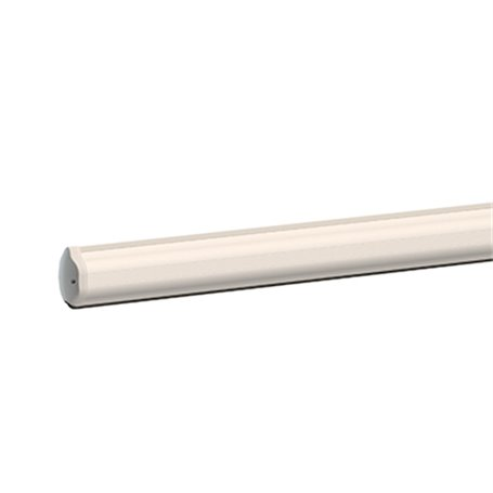 BA/128/4 ROGER Asta In Alluminio Verniciato L 4 M con Profili In Gomma E Copriled