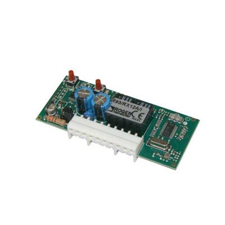 R93/RX12A/I ROGER Radio Ricevente A 2 Canali Ad Innesto 433,92 Mhz