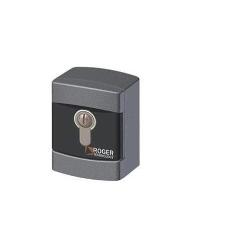 R85/60EAE/TRIX ROGER Selettore A Chiave Da Esterno In Alluminio Cilindro Din