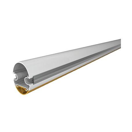 001G03250 Asta Tubolare Semi-Ellittica In Alluminio Bianco L 3.5 M