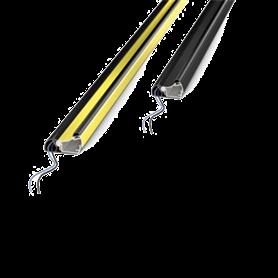 STOPPRY1800 Dispositivo di sicurezza STOP Giallo/Nero a microinterruttori stagni Lungh. 1800mm  STOP PROTO CCE