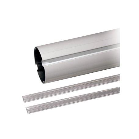 001G03752 Asta Elittica In Alluminio Bianco Profilo Copri Cava L 4 M
