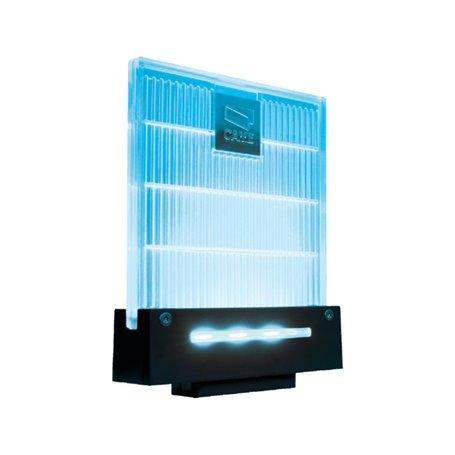 001DD-1KB Lampeggiatore Di Segnalazione A Led Color Blu Completo Di Supporto Per Fissaggio A Parete