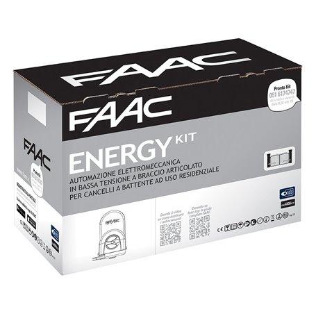 104575 FAAC Kit Automazione elettromeccanica 24V a braccio articolato