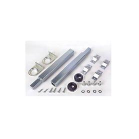 390435 FAAC Coppia tubi di trasmissione, supporti laterali, installazione con 2 attuatori