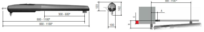 AX3024 CAME Motoriduttore 24 V fino a 3mt